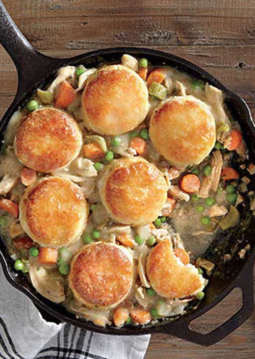 Nothing says comfort more than Biscuit-Topped Chicken Potpie. We love the fluffy deliciousness of the biscuit topping while still delivering a healthy meal the whole family will love.