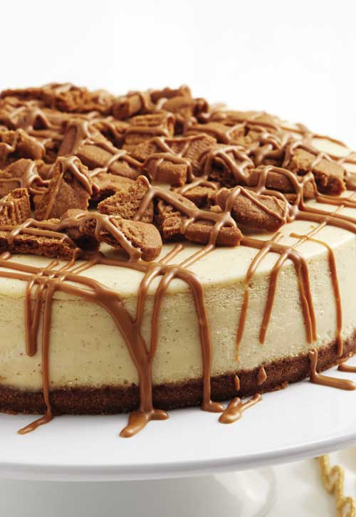 Cookie butter. Cheesecake. Delicious on their own. Put them together in this Cookie Butter Cheesecake, and you end up more than happy.