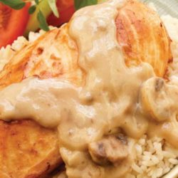 Recipe for Creamy Slow Cooker Chicken - Spoon this rich and creamy chicken mixture over pasta, rice or biscuits for a home-style dinner that's sure to satisfy your need for comfort food.