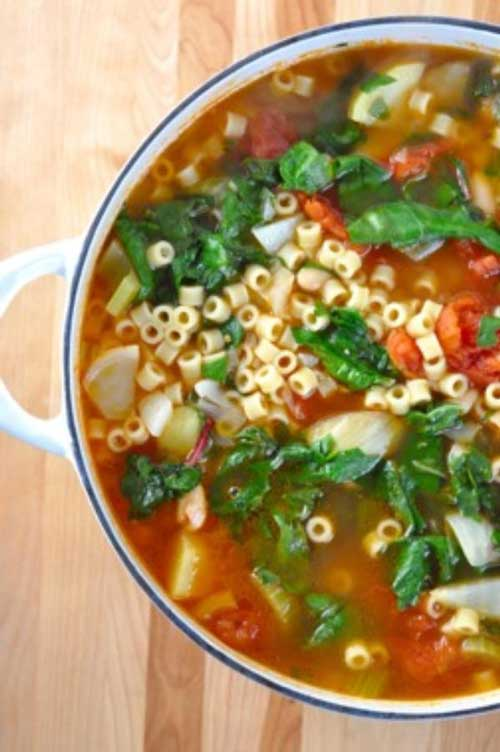 Try the warmth and heartiness of a hot soup. ThisWinter Minestrone Soup is an easy and quick soup to prepare, and wonderful to enjoy with a loaf of crusty Italian bread.
