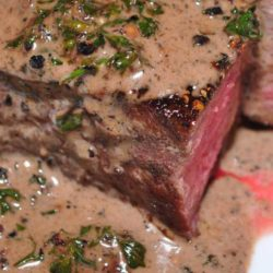 My favorite fancy steak dish is Filet Mignon au Poivre (with pepper). This is a simple version of the steak au poivre you've had in restaurants.