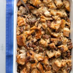 Recipe for Herbed Mushroom and Sausage Stuffing - My mother-in-law was famous for this recipe, her wonderful Mushroom and Sausage Stuffing, which we always looked forward to at holiday time.