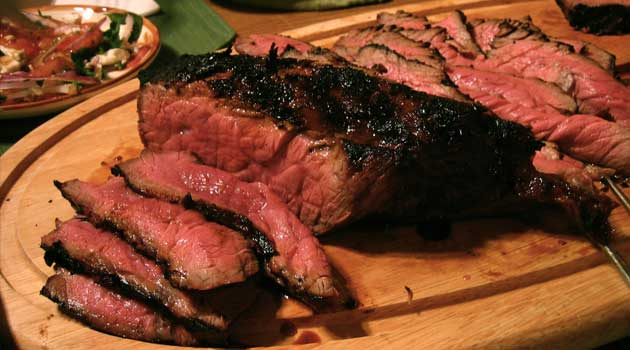 Coffee Rubbed London Broil Recipe Flavorite