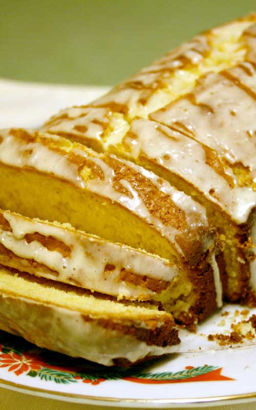 Recipe for Glazed Eggnog Bread - You will not find a better recipe for eggnog bread out there. I guarantee it. I was blown away by how amazing it baked and how moist and perfect it was.