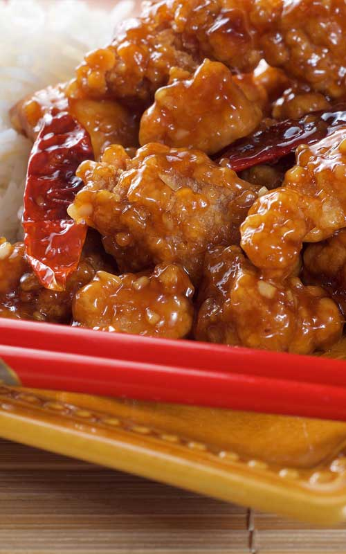 Recipe for General Tso's Chicken - This recipe has an extra-crisp coating that doesn't get soggy; even when coated in a glossy sauce that has the perfect balance of sweet, savory, and tart.