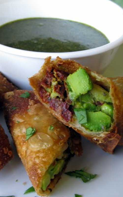Whip up a restaurant favorite at home with a quick and easy recipe for avocado egg rolls made with just five ingredients.