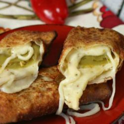 Recipe for Cheesy Chile Eggrolls - Here is a crispy, hot, cheesy, slightly spicy appetizer that everyone will LOVE! Cheesy Chile Eggrolls are just 3 simple ingredients!