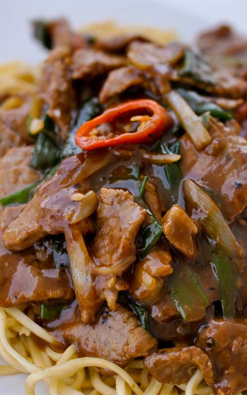 Recipe for Mongolian Beef - This Mongolian Beef Recipe is a crispy, flavorful homemade version that is less sweet than the gloopy restaurant Mongolian Beef you're probably used to.