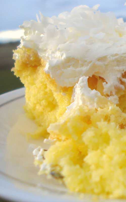 Lemon Cake Pudding Casserole