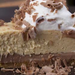Recipe for Peanut Butter Tart - Don't let the peanut butter part lead you to think that this dessert isn't fancy. It only looks complicated. But trust me, it's really not hard to make.