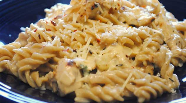 White Cheddar Chicken Pasta Recipe Flavorite