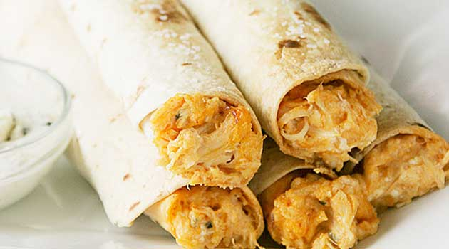 Baked Buffalo Chicken Taquitos Recipe - Flavorite