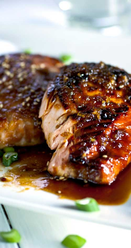 Garlic and Miso Glazed Salmon