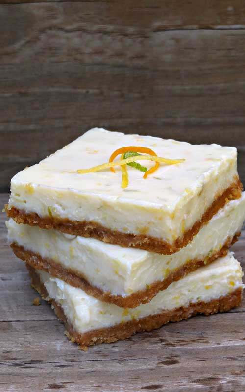 Recipe for Triple Citrus Bars - I'm sure you have had lemon bars a million times. And, they are delicious, one of my favorites. But, next time you have a taste for citrus…change things up a bit and try these triple citrus bars. You won't be sorry.