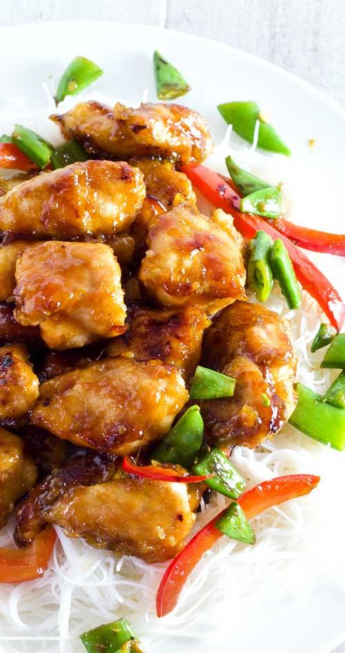 Sticky Honey Sriracha Chicken
