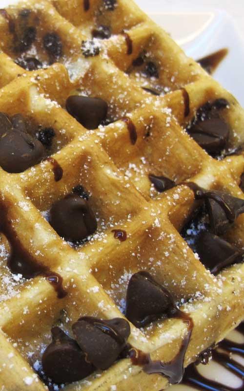 Chocolate Chip Belgian Waffles Recipe Flavorite