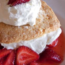 Recipe for Strawberry Shortcake - If you have a pint or two of strawberries sitting on your counter and wonder what to do with them, consider trying this simple and delicious recipe!