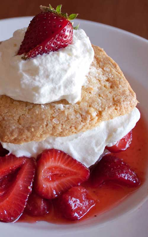 If you have a pint or two of strawberries sitting on your counter and wonder what to do with them, consider trying this simple and delicious Strawberry Shortcake recipe!