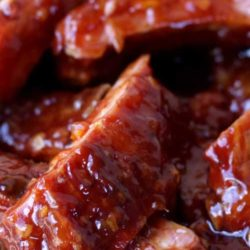 Recipe for BBQ Marmalade Ribs - You know how much they like barbecue ribs? They'll like 'em even more when they're brushed with this sweet and savory marmalade mixture!