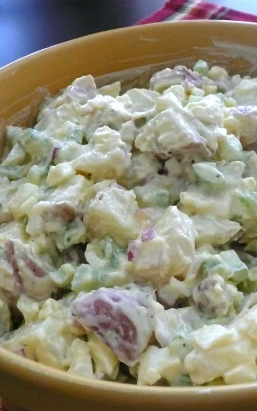 "Recipe for The Best Potato Salad EVER - At a family picnic, someone once declared this ""the best potato salad EVER"", so that's been the recipe's title ever since."