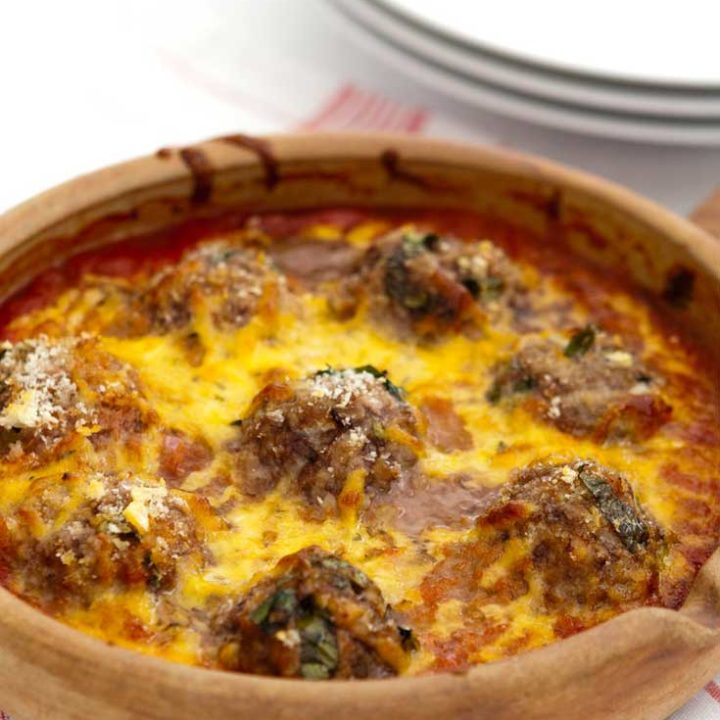 Baked Cheesy Meatballs