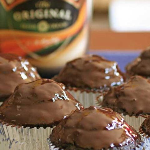 Recipe for Irish Coffee Cupcakes with Chocolate Ganache - These Irish Coffee Cupcakes may take a bit more work than some other recipes out there...but look at that chocolate ganache! And then you have the surprise Irish cream filling inside of them! That bit of extra effort is soo worth it!