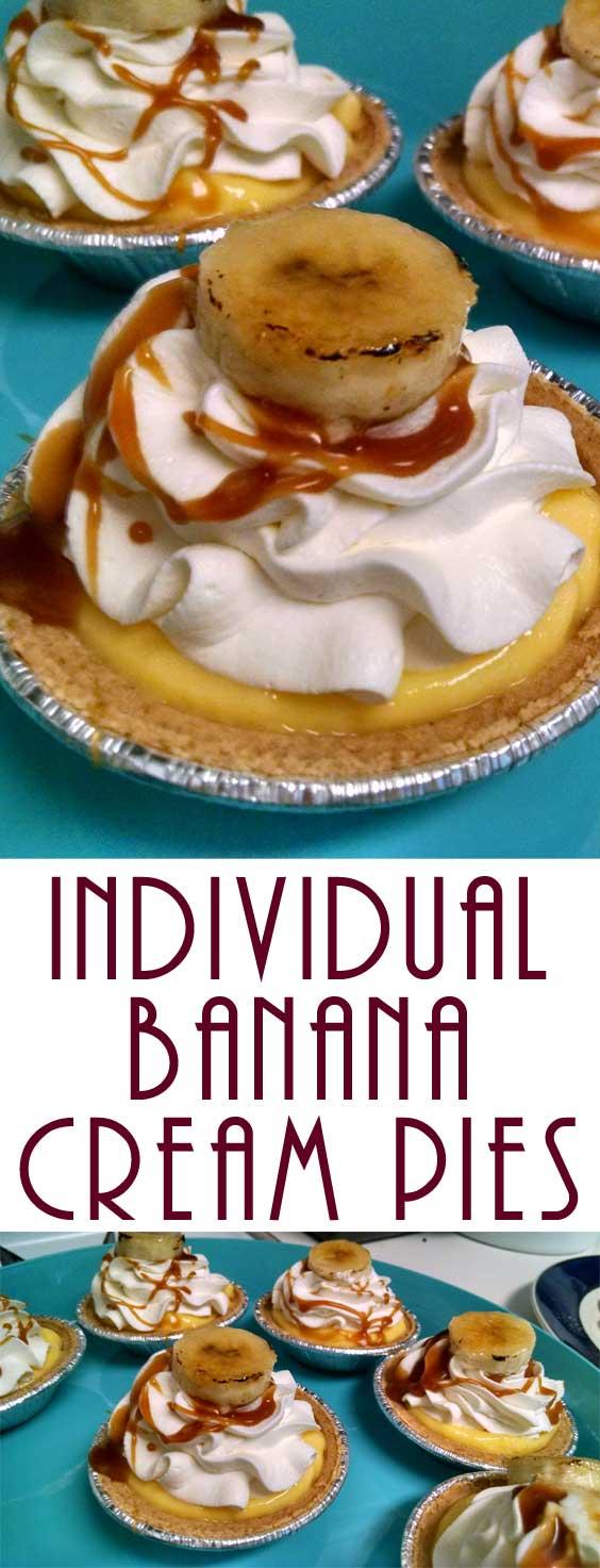 Individual Banana Cream Pies
