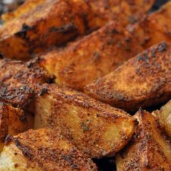 Recipe for Old Bay Style Potato Wedges - Move over plain old fries, there is a new king in town. These Old Bay Style Potato Wedges pack so much more flavor, and are super easy to make. You can whip up a batch in the time it takes to make boring old bagged, frozen fries.