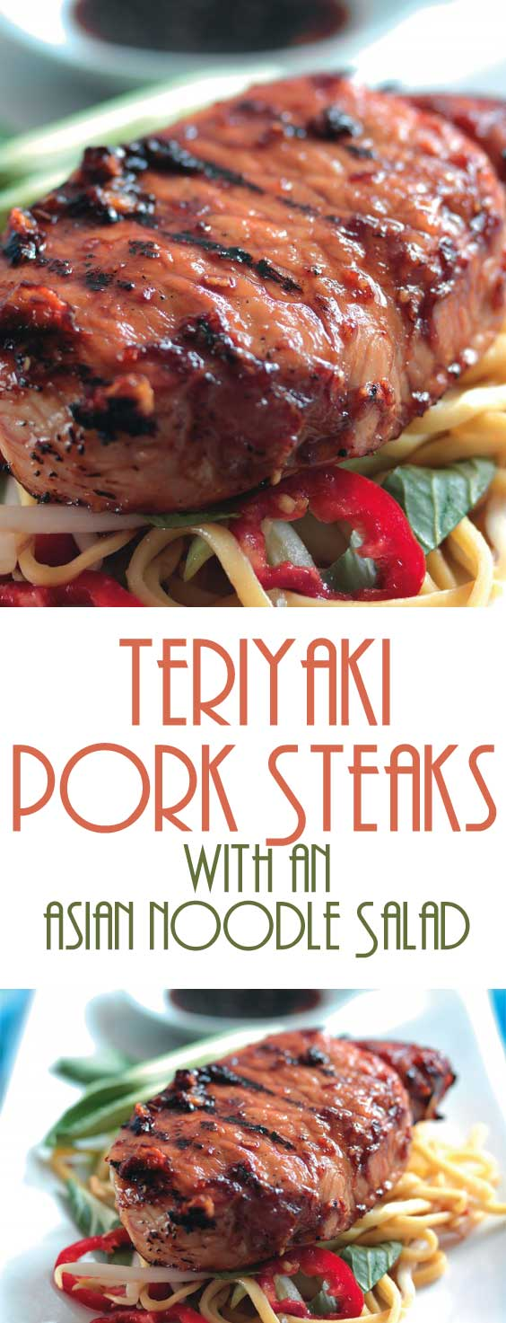 Teriyaki Pork Steaks with an Asian Noodle Salad