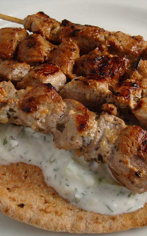 Enjoy your favorite Greek kebab at home with our quick and easy recipe for pork souvlaki. I also think the marinade would work well with chicken or lamb too.