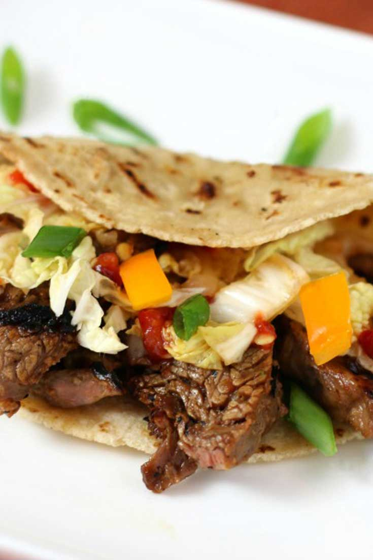 Korean Style Beef Tacos