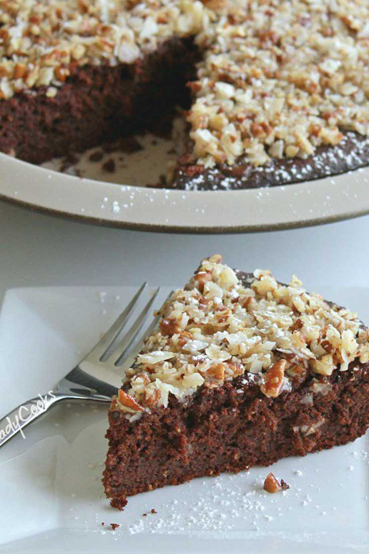 Pecan Coconut Topped Brownie Pie