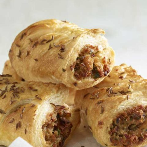 Needing an idea on what to make with your leftover pulled pork? These Leftover Pulled Pork Sausage Rolls are a perfect and easy recipe that everyone is sure to love!