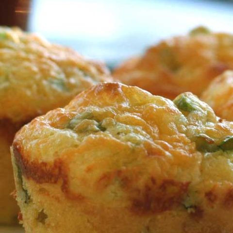 Cheddar and Green Onion Cornbread Muffins