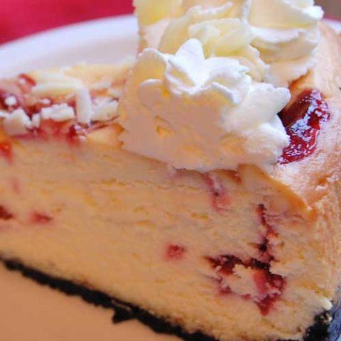 Copycat Cheesecake Factory White Chocolate Raspberry Truffle Cheesecake